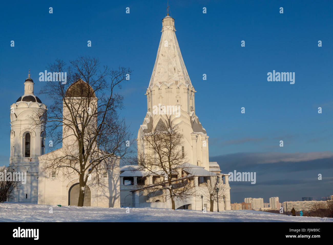 View of the Church of the Ascension (1532) the first tent-roof stone church in Kolomenskoye Moscow Russia & View of the Church of the Ascension (1532) the first tent-roof ...