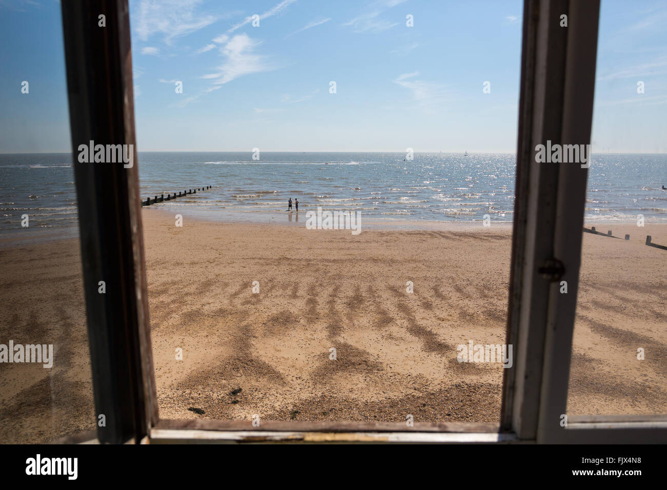 Open window beach - Looking Out Towards The Beach From The Open Window Of A Beach Hut