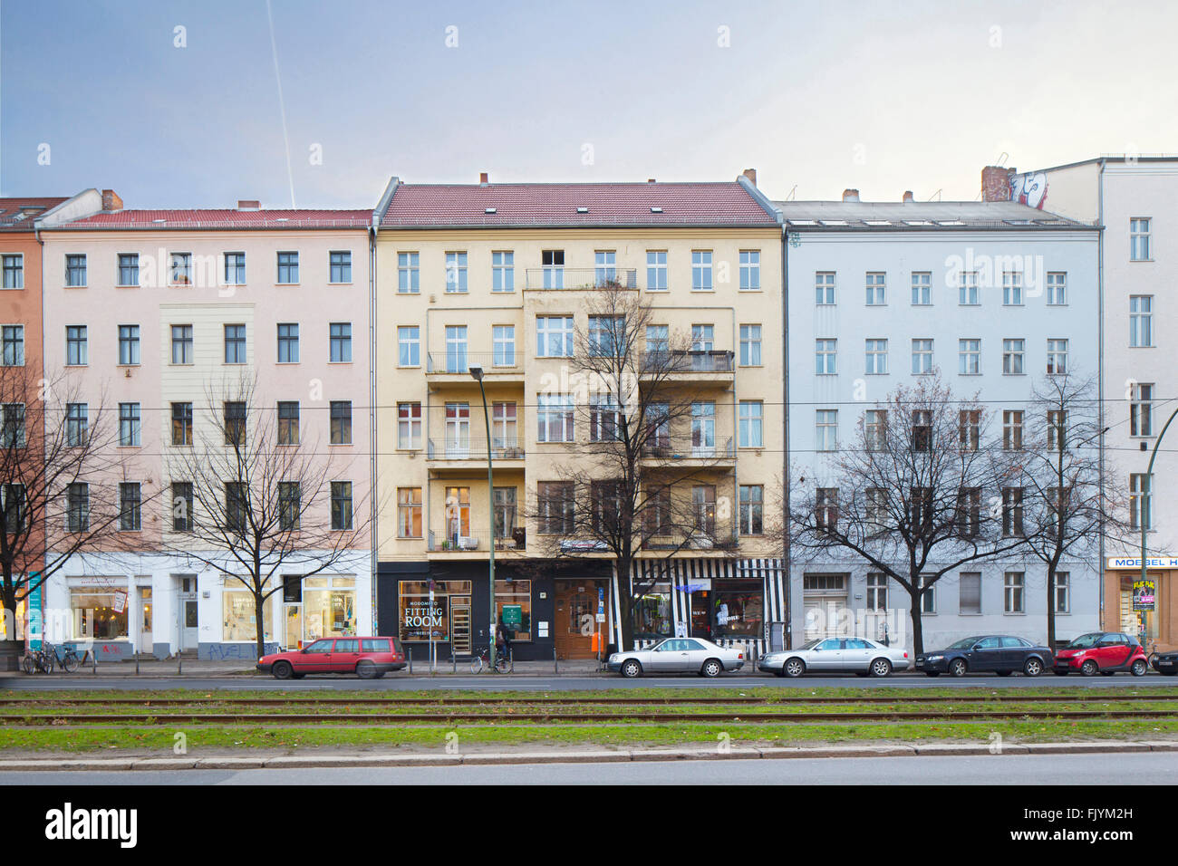 town houses historic houses terraced rental properties in berlin stock photo royalty free. Black Bedroom Furniture Sets. Home Design Ideas