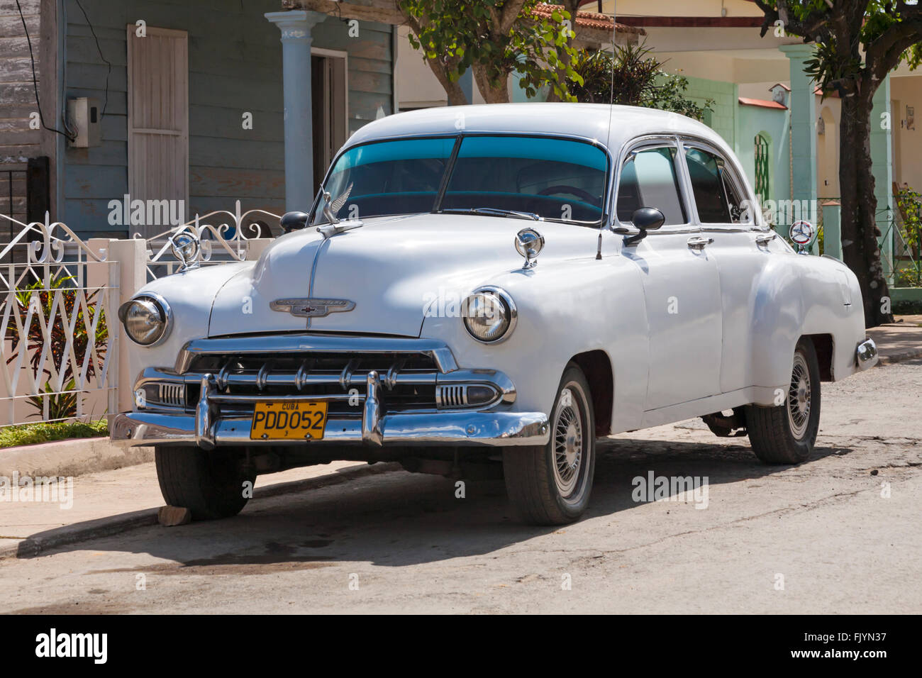 Old chevrolet car at Vinales, Pinar del Rio Province, Cuba, West ...