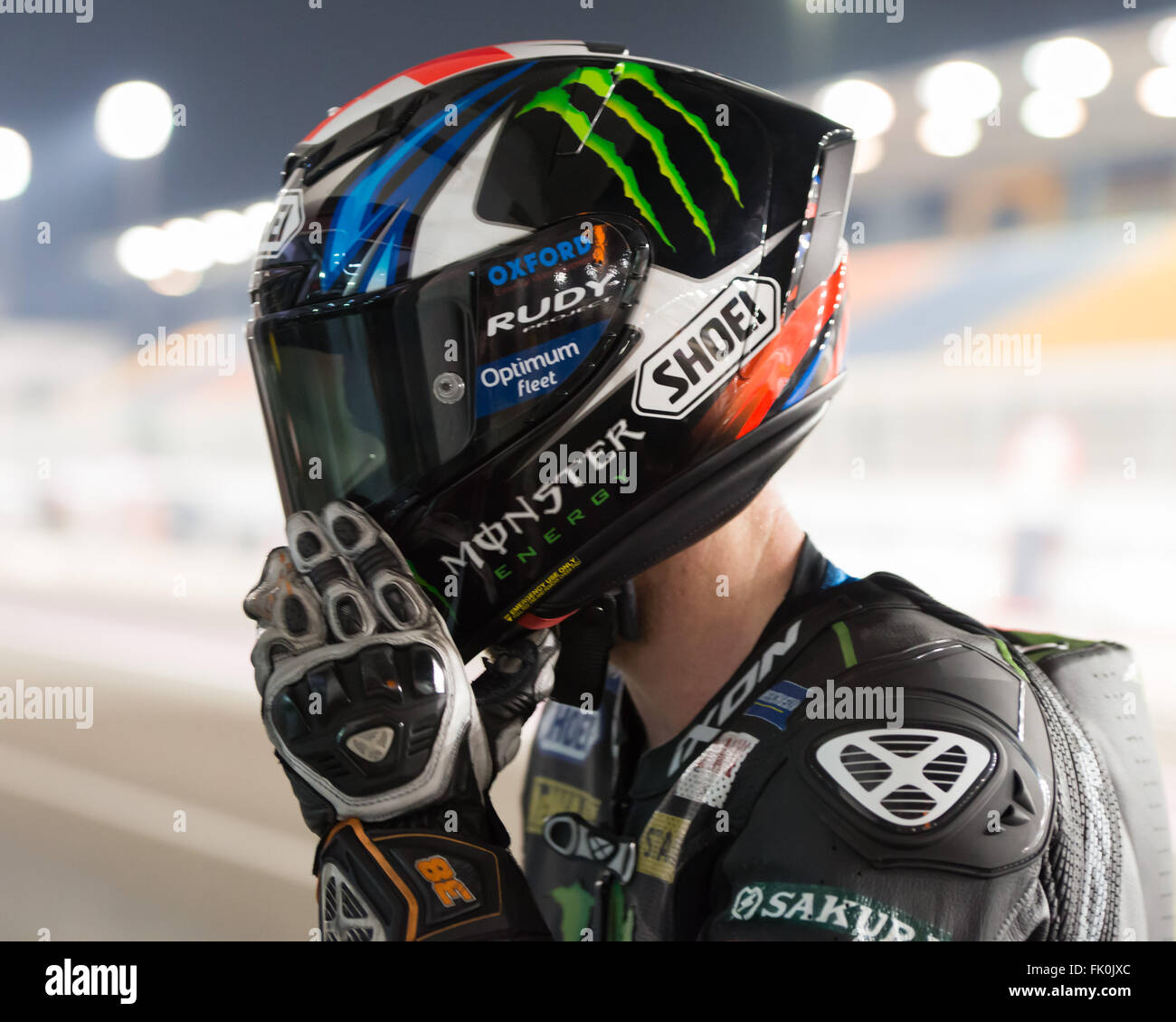 Doha, Qatar. 4th March, 2016. Bradley Smith during the final day of Stock Photo, Royalty Free ...