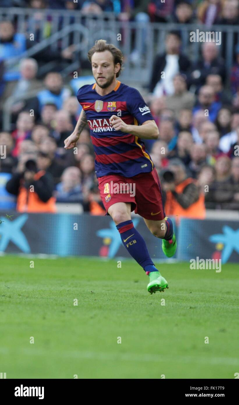 ivan Rakitic in action during the La Liga match FC Barcelona Stock