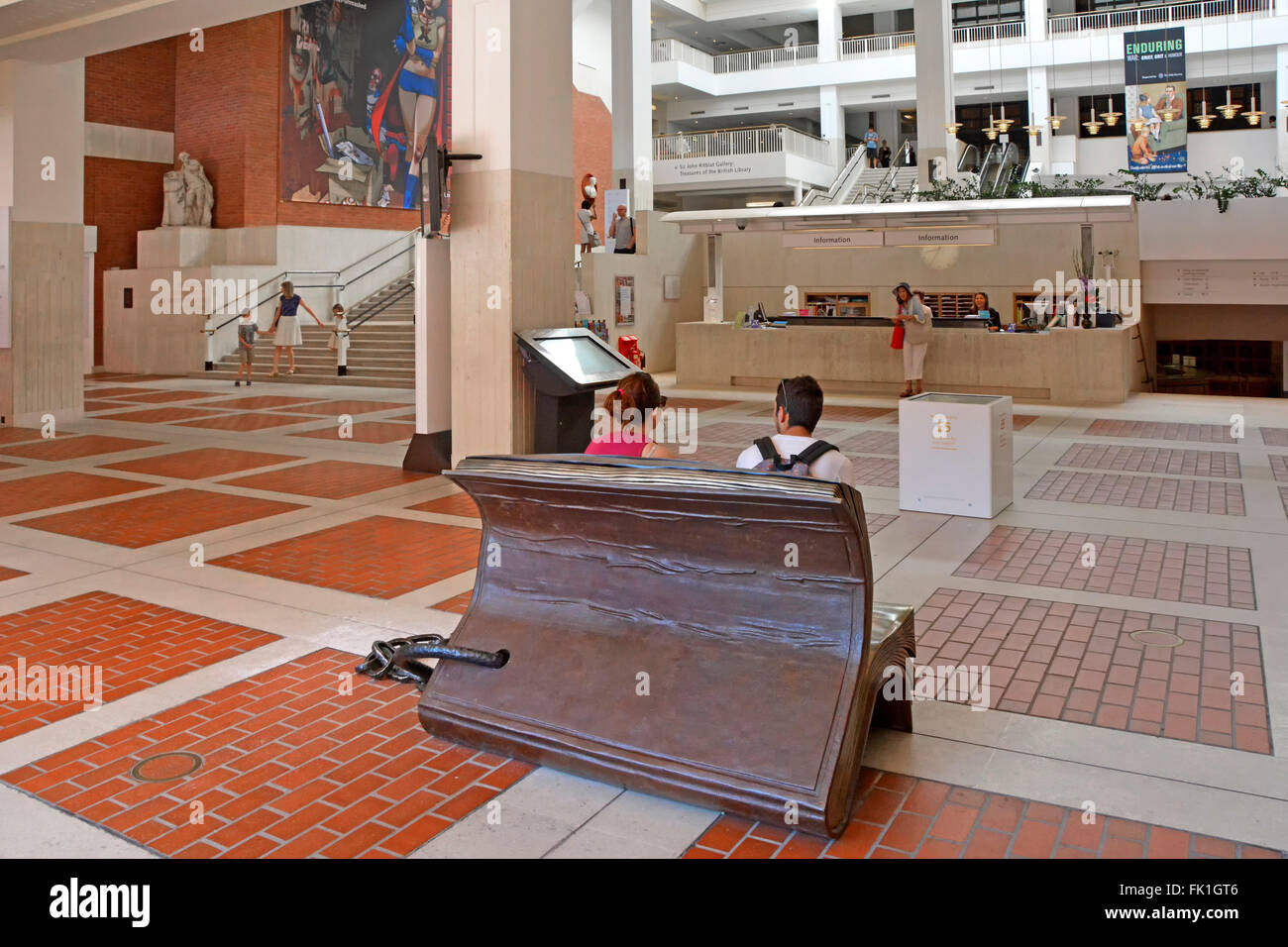 British Library Interior Main Entrance Foyer And Information Desk Inside The National Of United