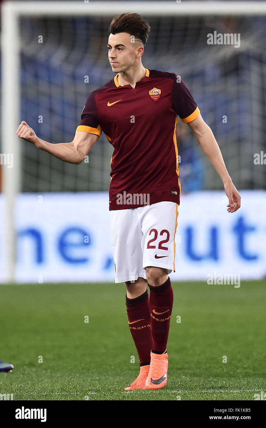 Rome Italy 4th March 2016 Stephan El Shaarawy Roma celebrates