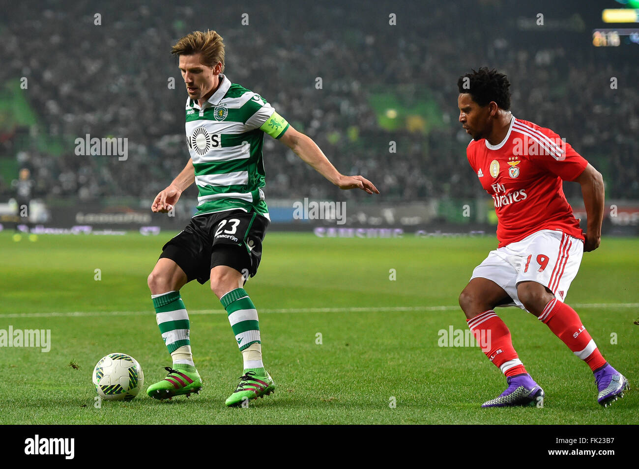 Lisbon Portugal 5th March 2016 SPORTING BENFICA Adrien Silva