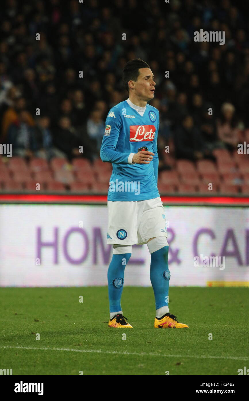 Napoli Italy 05th Mar 2016 José Mara Callej³n SSC Napoli