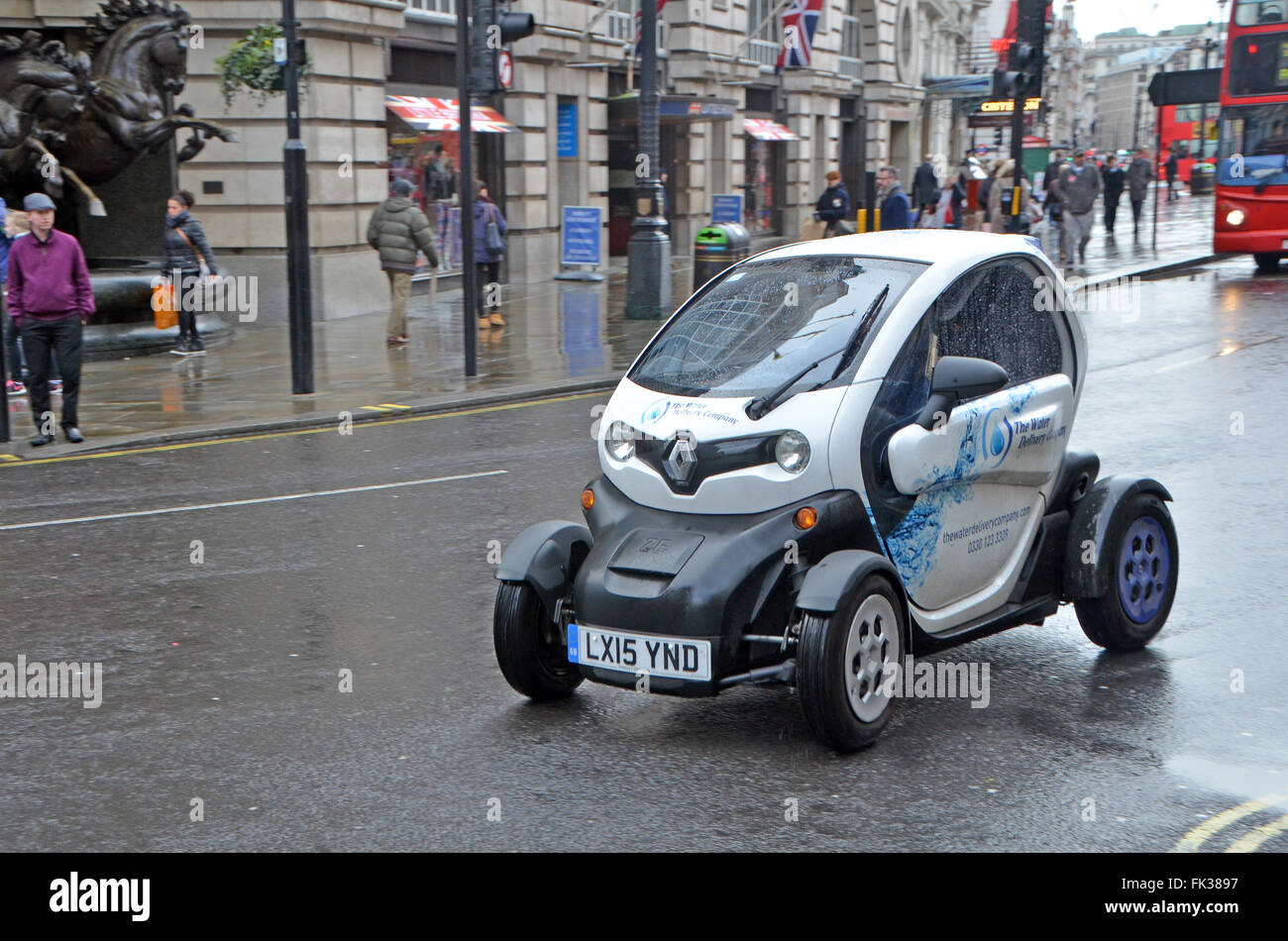 London Uk March Renault Electric Car Twizy At Work For