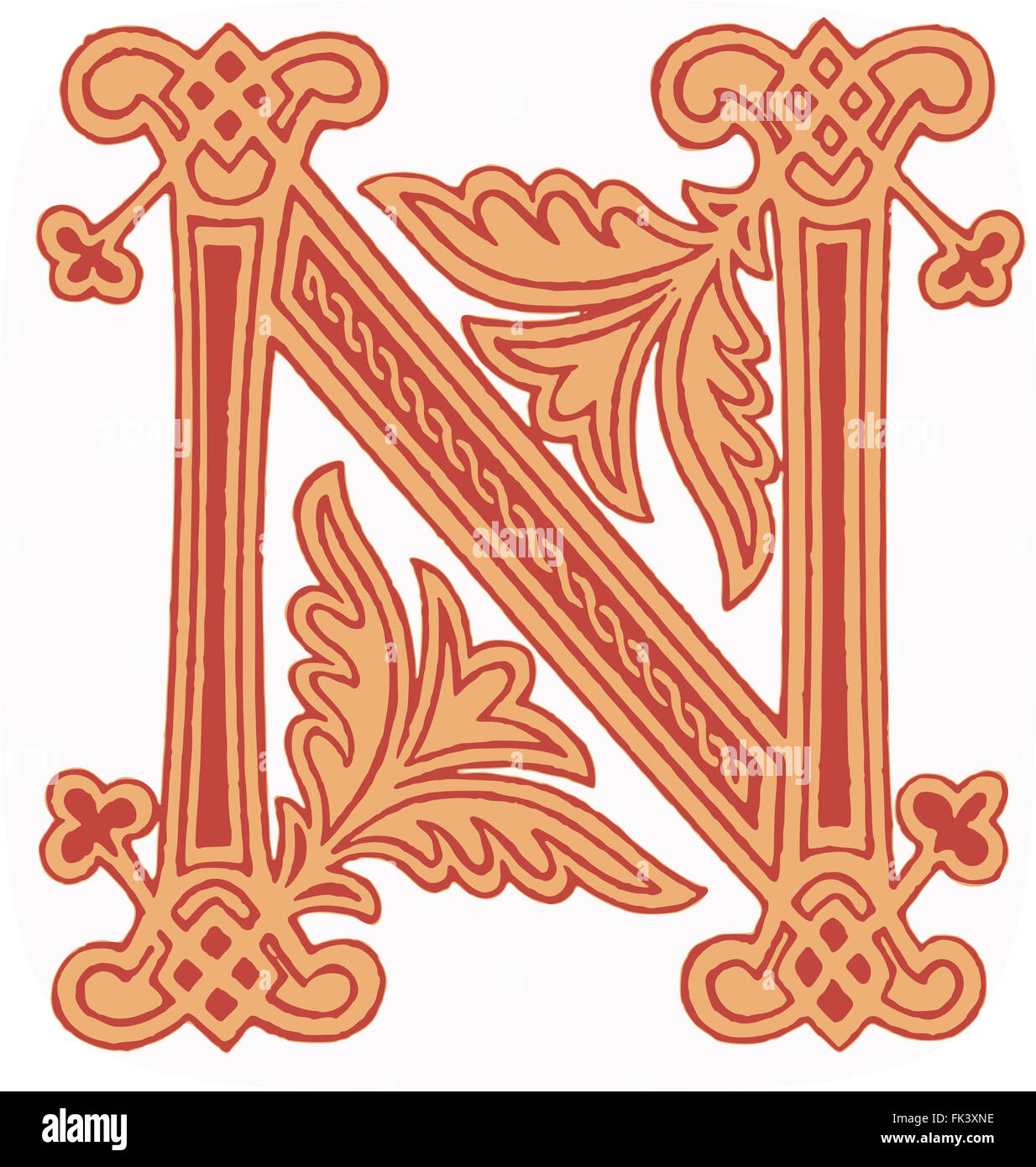 Anglo saxon gospel stock photos anglo saxon gospel stock images anglo saxon initial letter n stock image buycottarizona Images