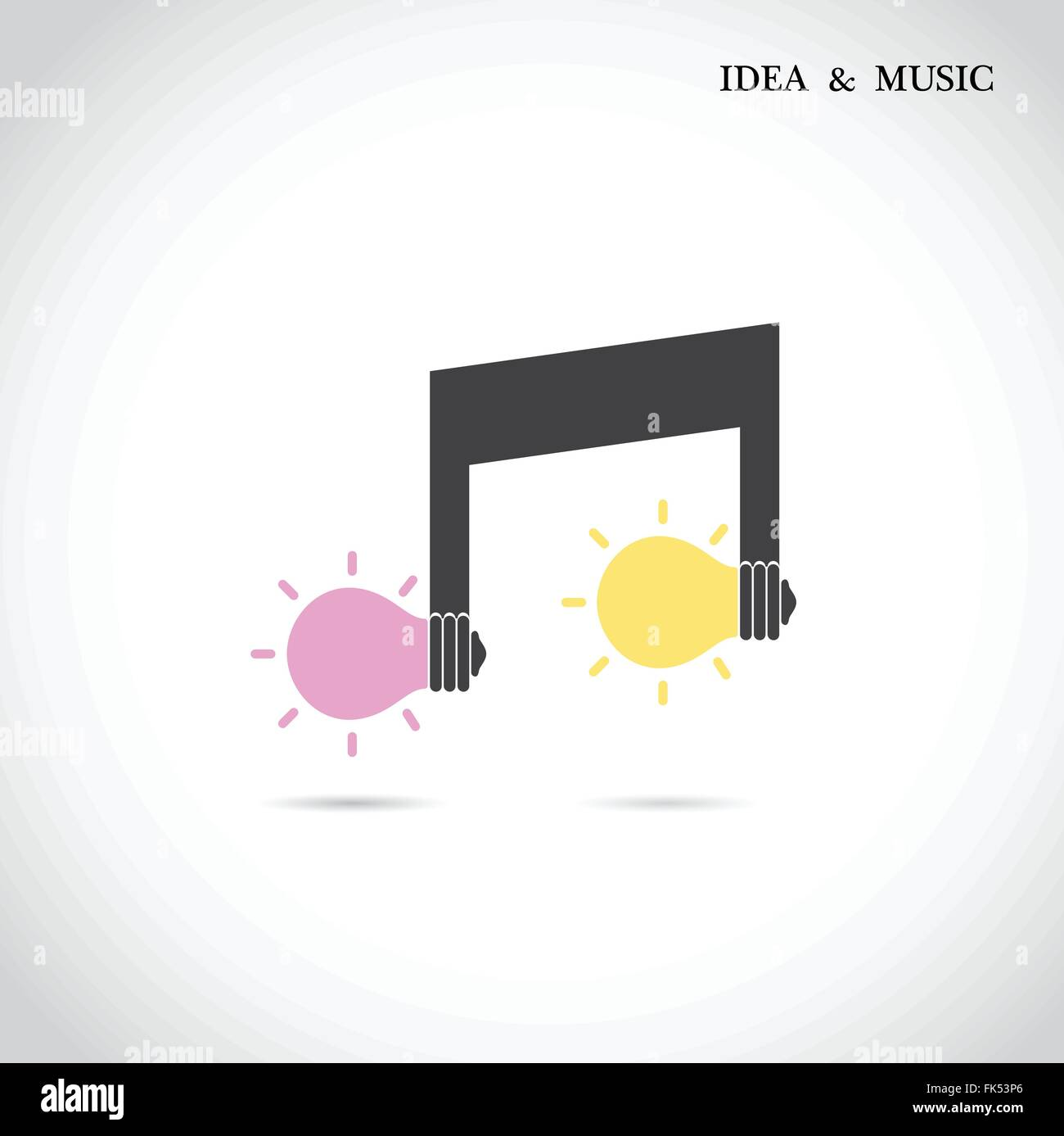 Creative music note sign and light bulb symbol idea and musical creative music note sign and light bulb symbol idea and musical symbol vector illustration biocorpaavc Gallery