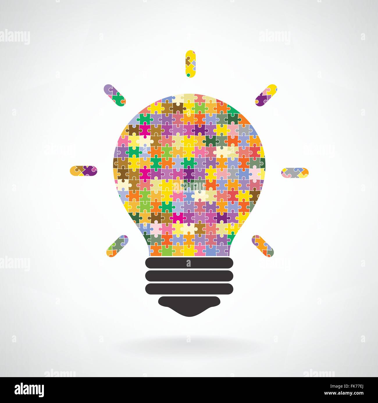 Poster design education - Creative Puzzle Light Bulb Idea Concept Background Design For Poster Flyer Cover Brochure Education