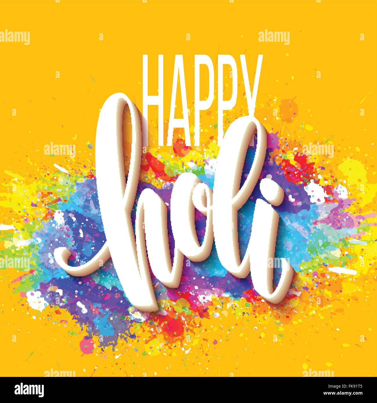 Happy holi festival of colors greeting background with colorful happy holi festival of colors greeting background with colorful holi powder paint clouds and sample text vector illustration kristyandbryce Image collections