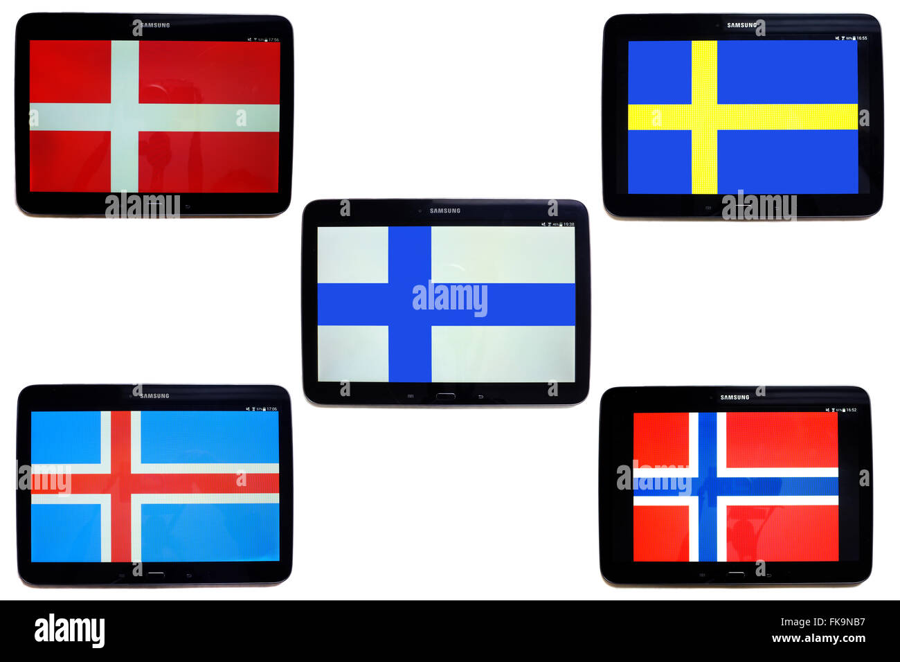 The Scandinavian Flags Of Denmark Sweden Finland Iceland And - Denmark flags