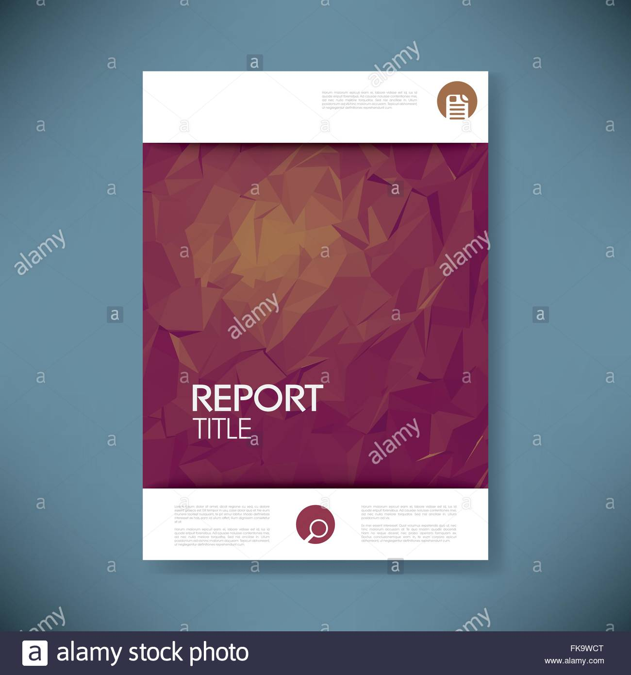 Report Cover Template With D Low Poly Vector Background Business - 3d brochure template