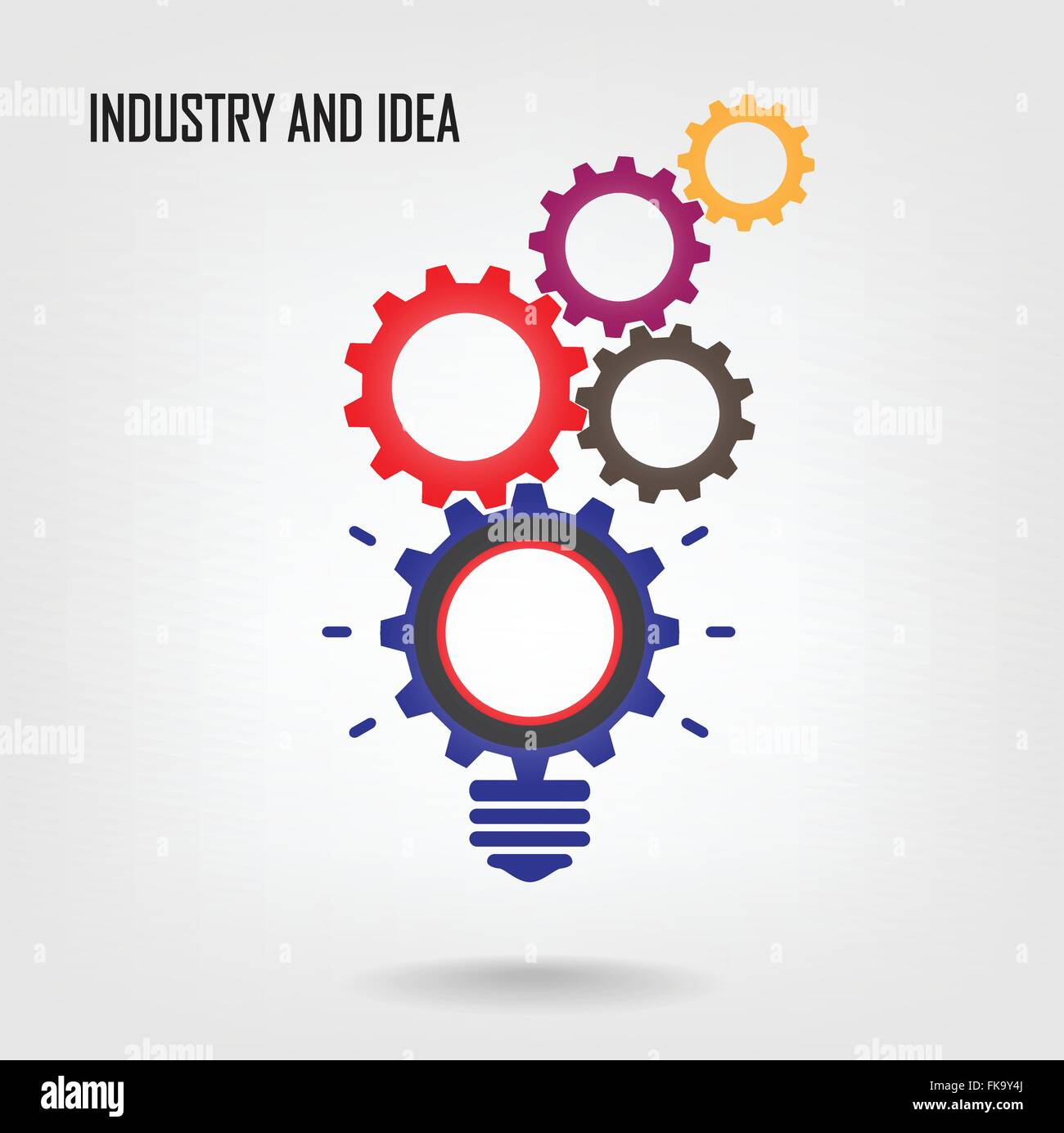 Creative light bulb concept background design for poster ...