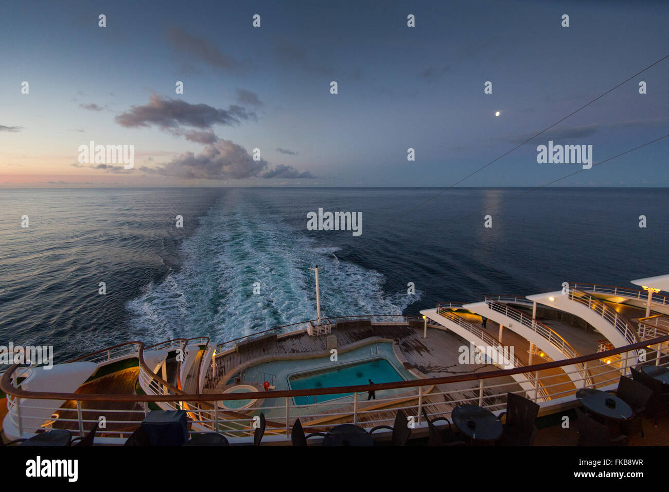 The Aft Rear Open Deck Of PO Cruise Ship Oriana In The North - What is aft on a cruise ship