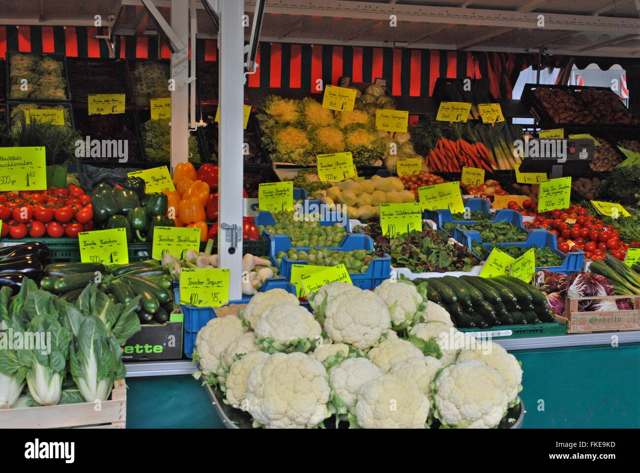 Vegetables on the market place in bonn germany stock photo vegetables on the market place in bonn germany sciox Images