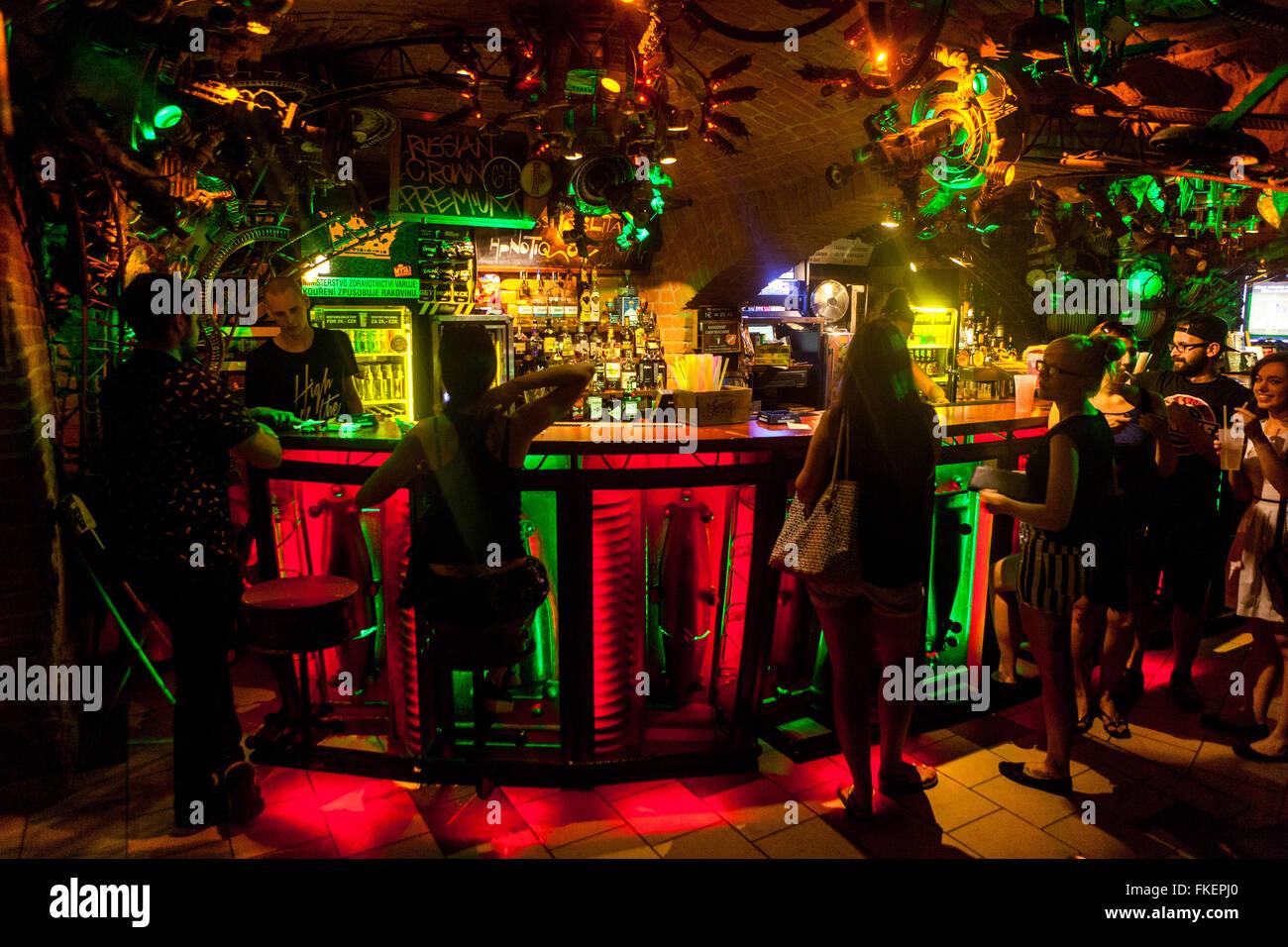 Cross Club Prag >> Cross Club, favorite music club, Nightlife, Prague Holesovice, Czech Stock Photo: 98055384 - Alamy