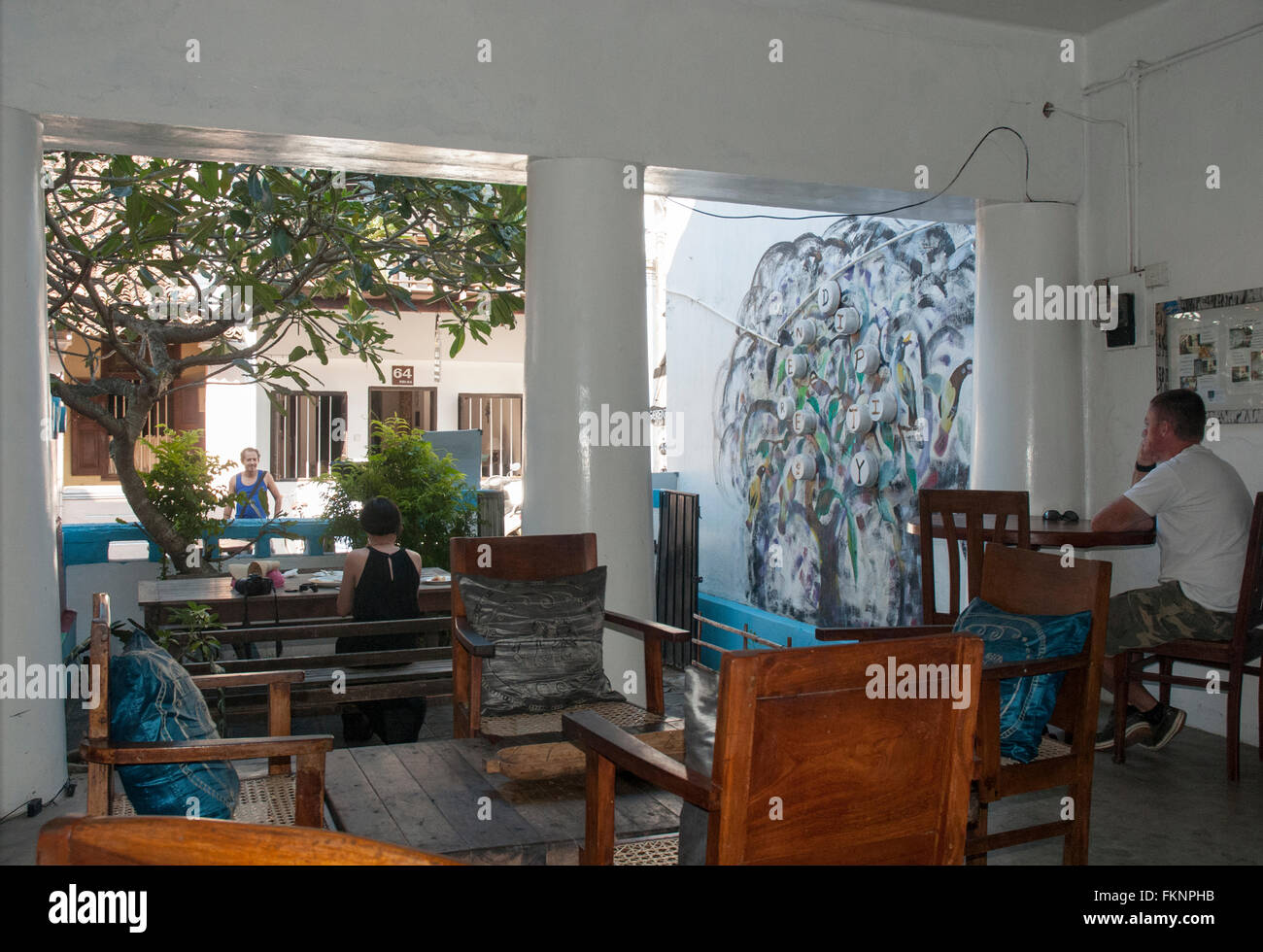 Inside Sri Serendipity Arts Cafe Galle Fort Lanka