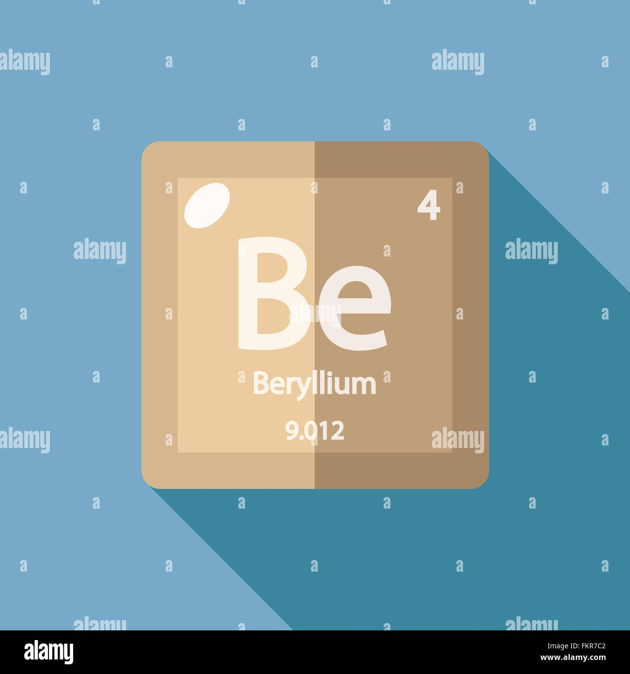 Chemical element beryllium flat stock vector art illustration chemical element beryllium flat buycottarizona Image collections