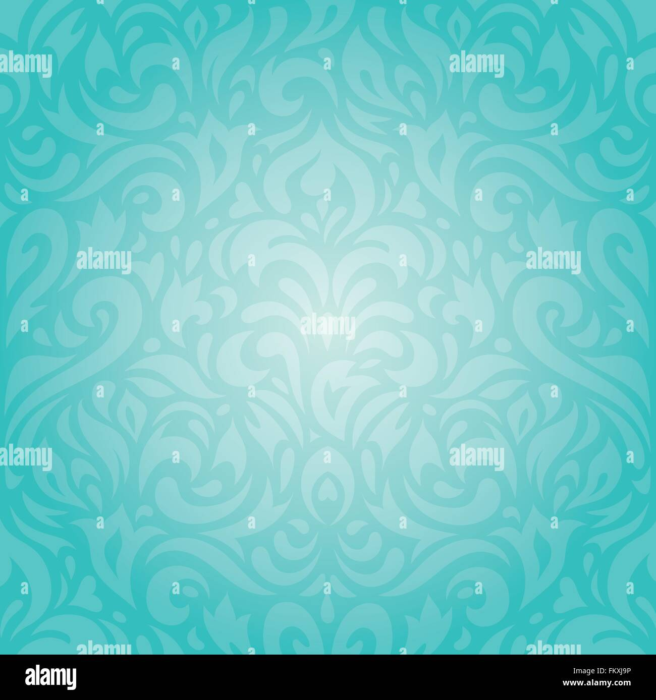 Retro floral Turquoise holiday vintage invitation background Stock
