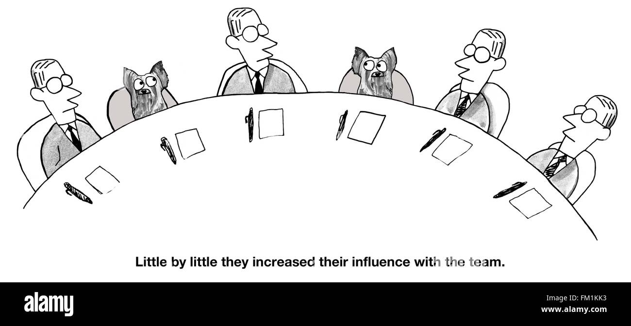 business cartoon about new team members stock photo