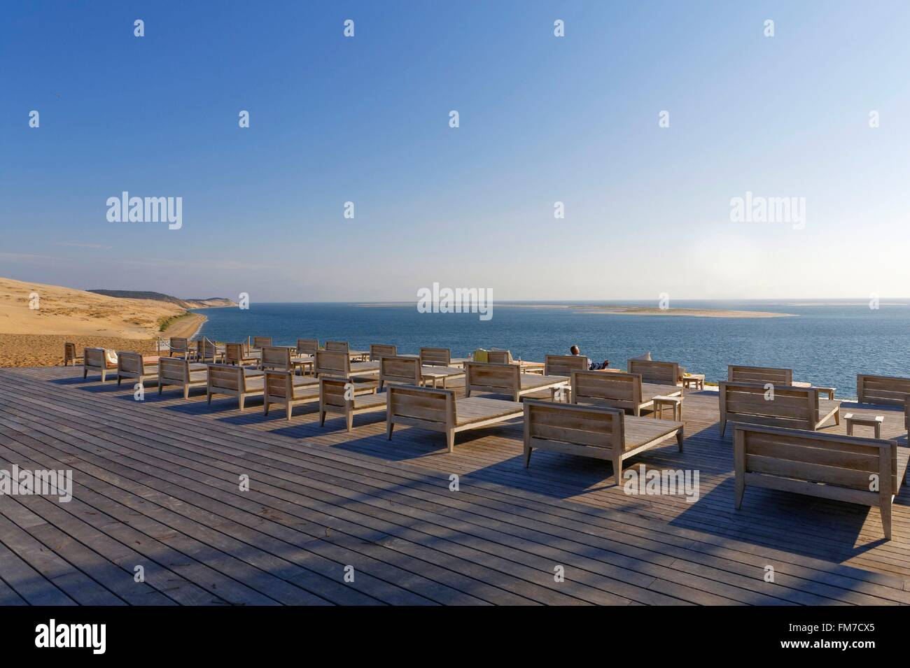 france gironde bassin d 39 arcachon pyla sur mer la corniche hotel stock photo royalty free. Black Bedroom Furniture Sets. Home Design Ideas