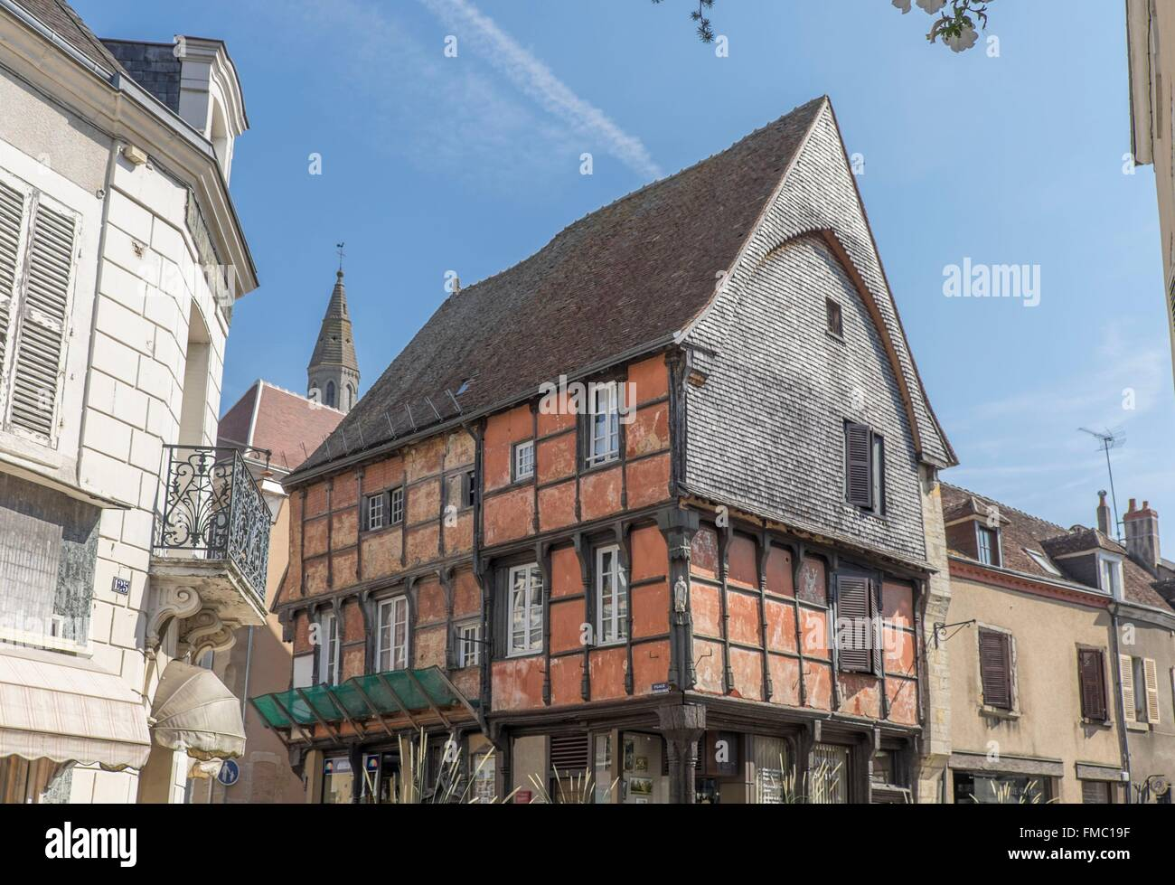 france indre la chatre 15th century wooden house laisnel de la stock photo 98609435 alamy. Black Bedroom Furniture Sets. Home Design Ideas