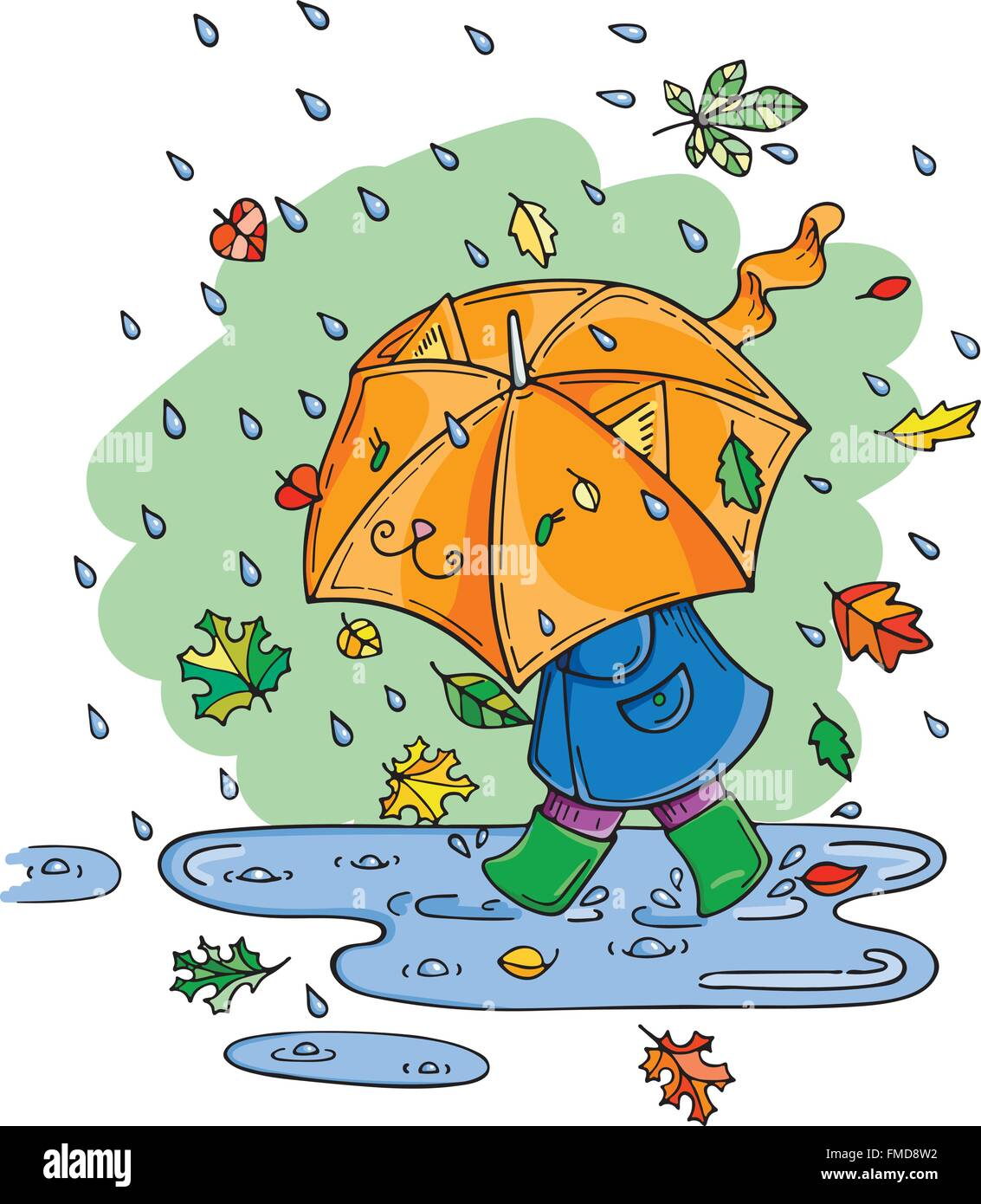 rainy day child umbrella cut out stock images u0026 pictures alamy