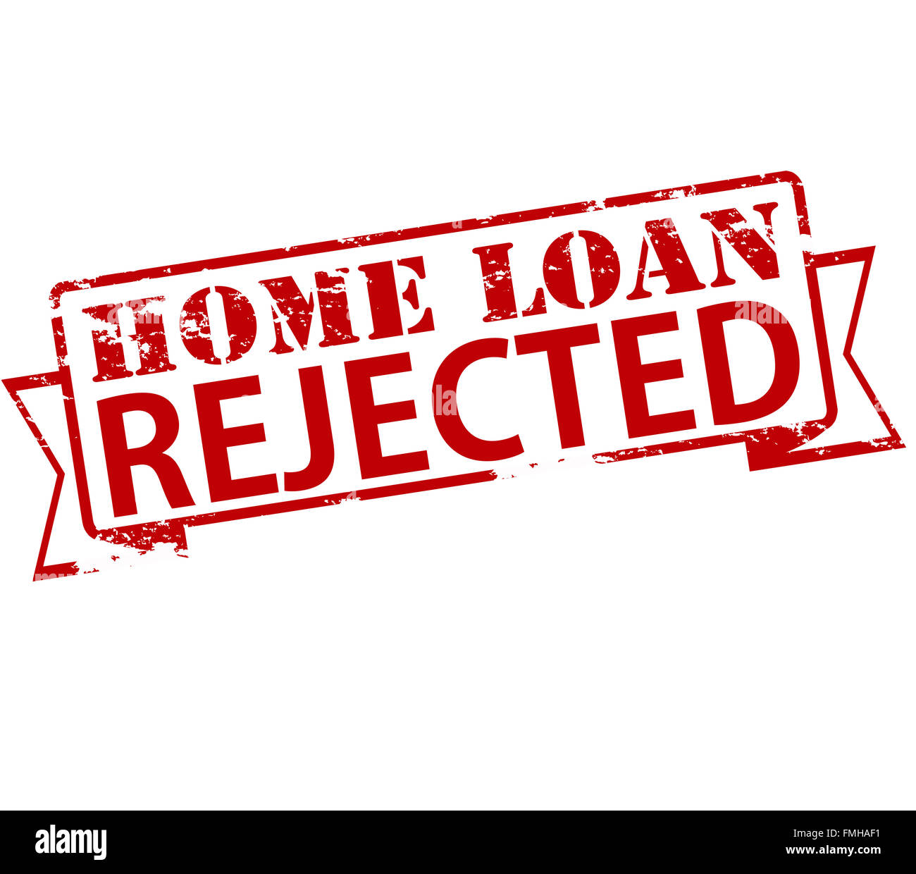 Rubber Stamp With Text Home Loan Rejected Inside Vector Illustration