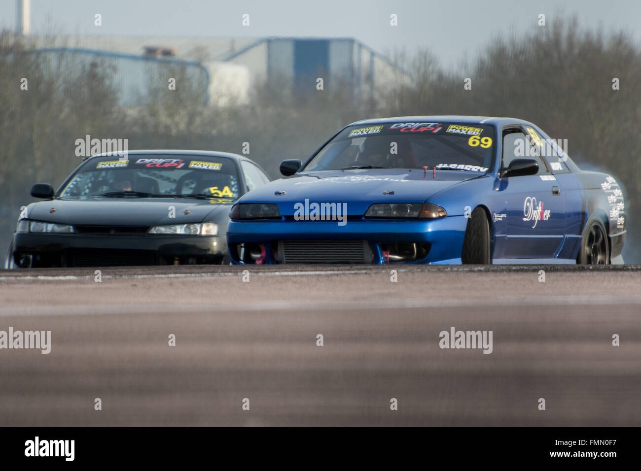 Corby Uk Mar Drift Cars During Drift Matsuri At