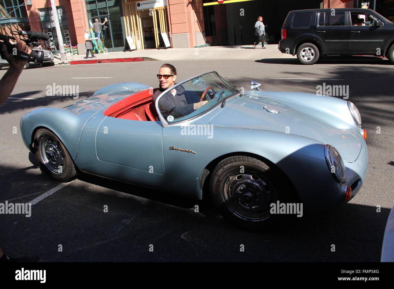 chris cornell jumps into his vintage 1955 porsche speedster spyder the same model james dean