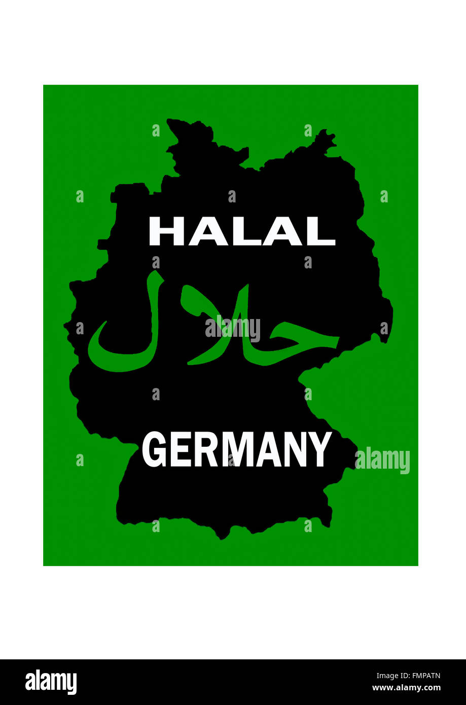 Halal certification for islamic pure meat or food in germany stock halal certification for islamic pure meat or food in germany xflitez Images