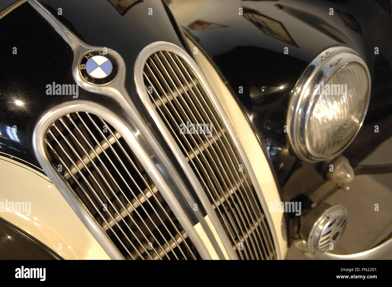 A close up of the BMW 1938 German Sportscar of the 30s Stock