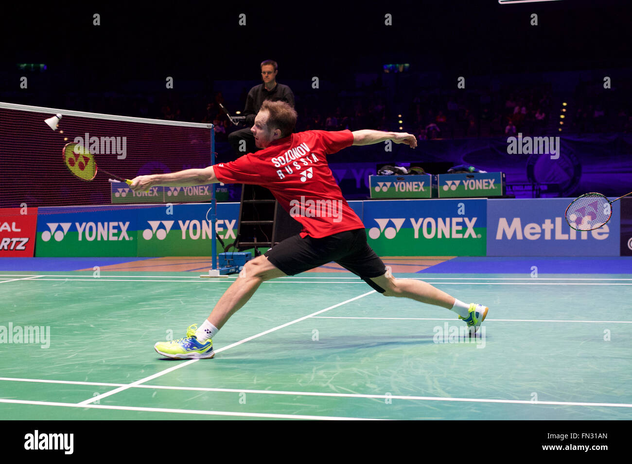 Barclaycard Arena Birmingham UK 13th Mar 2016 Yonex All