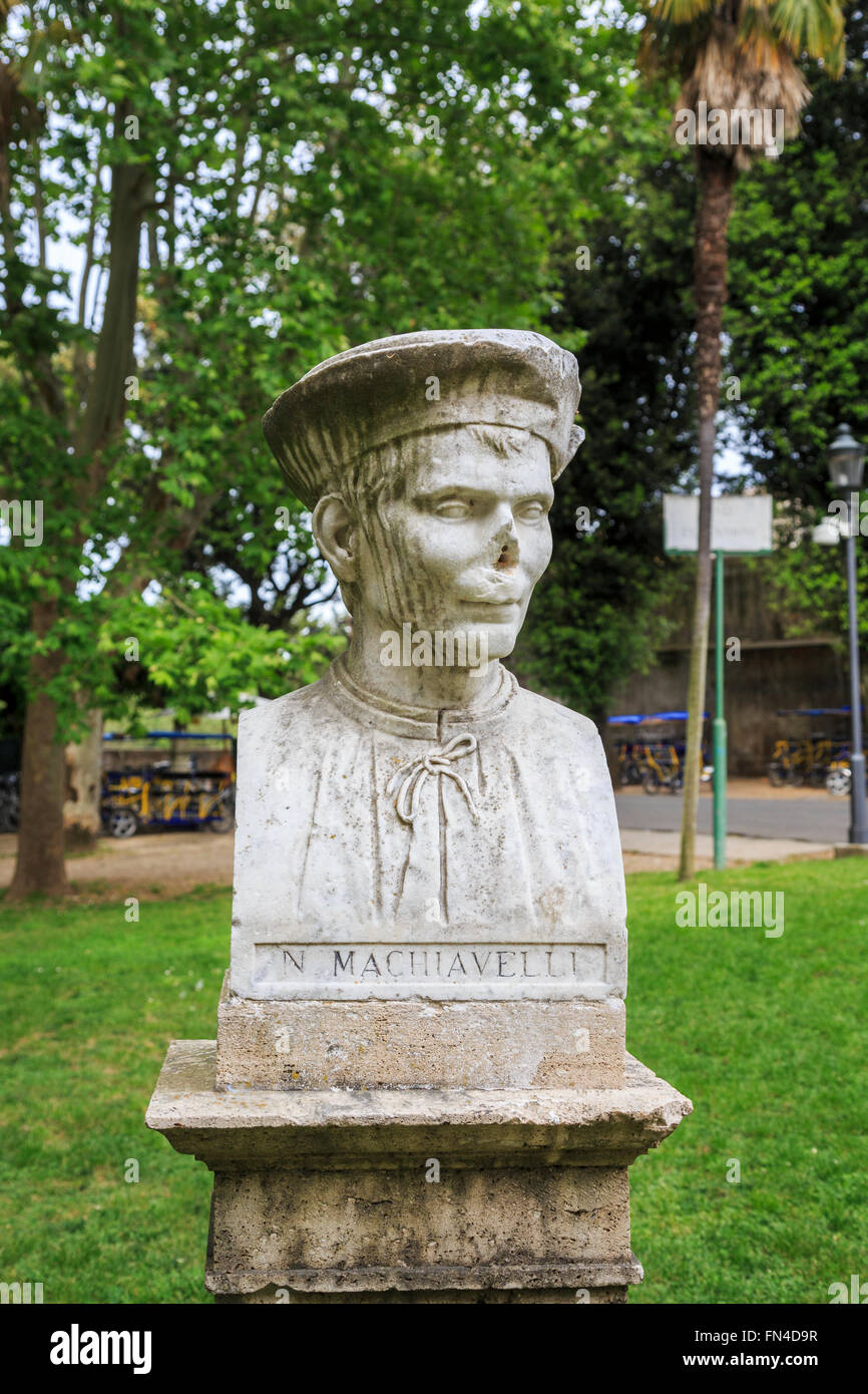 niccolo machiavelli stock photos niccolo machiavelli stock bust of statesman and writer niccolo machiavelli in the borghese gardens near the spanish steps
