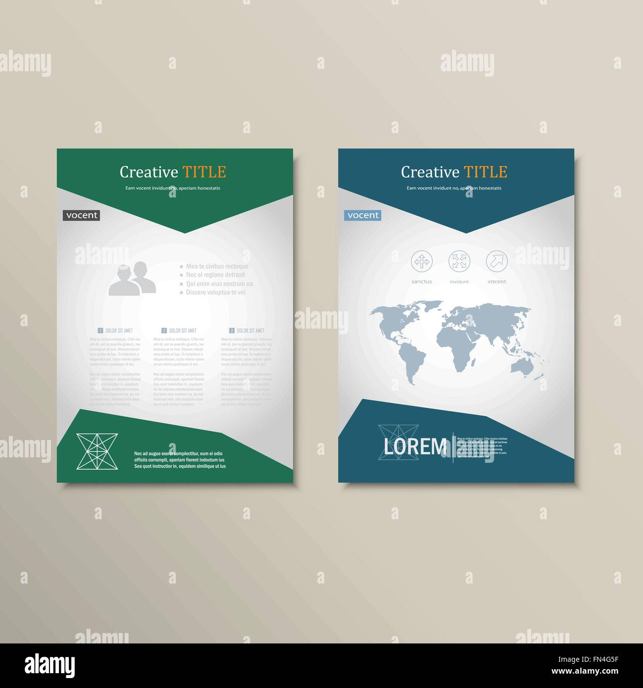 Vector Brochure Template A Format Layout Home Page And More - A4 brochure template