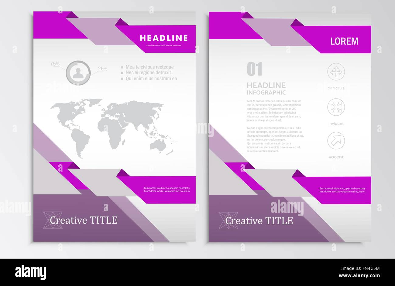 Vector Brochure Template A Format Layout Home Page And More - Infographic brochure template