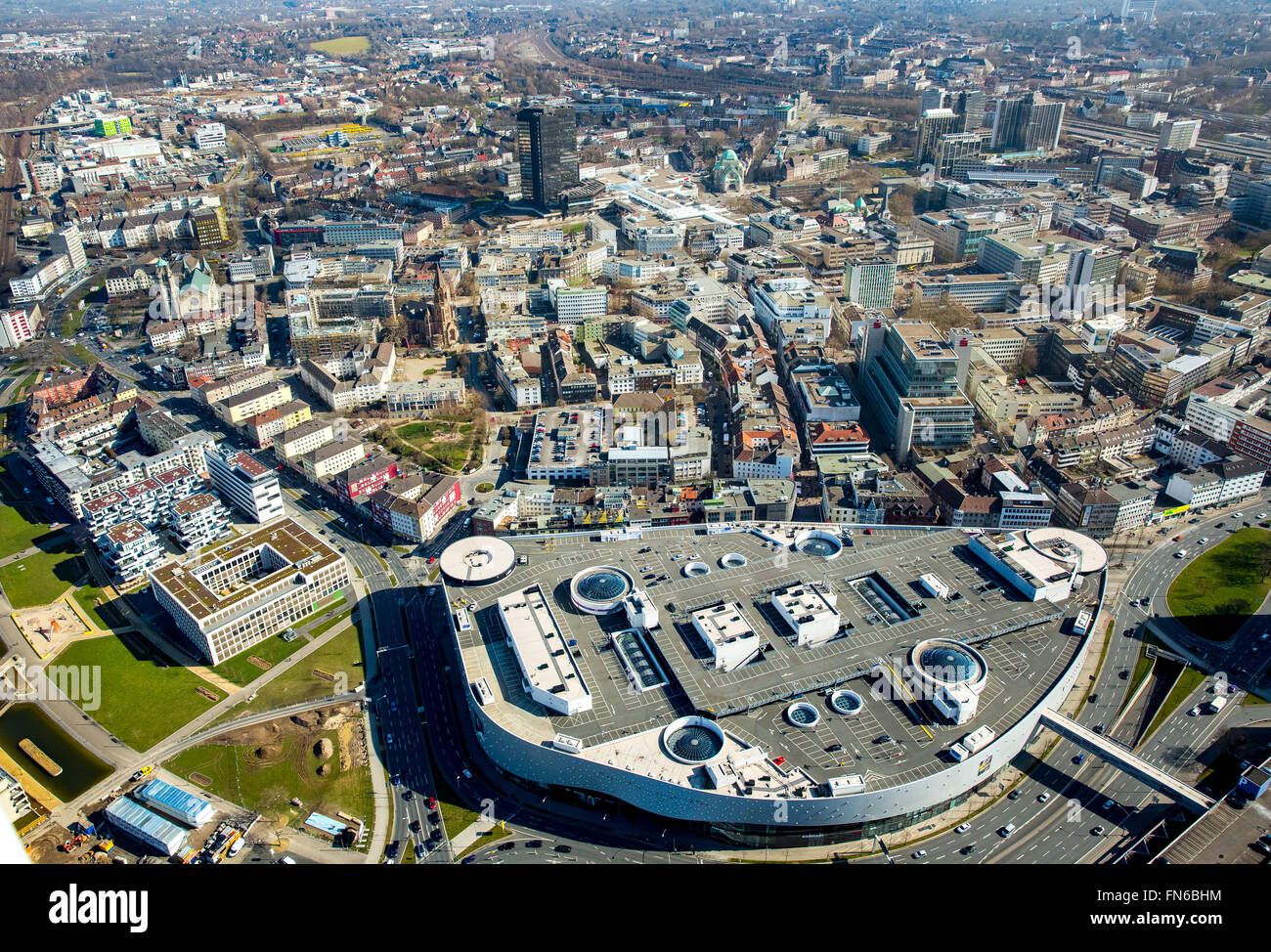 aerial view limbecker platz shopping centre ece essen city city stock photo royalty free. Black Bedroom Furniture Sets. Home Design Ideas