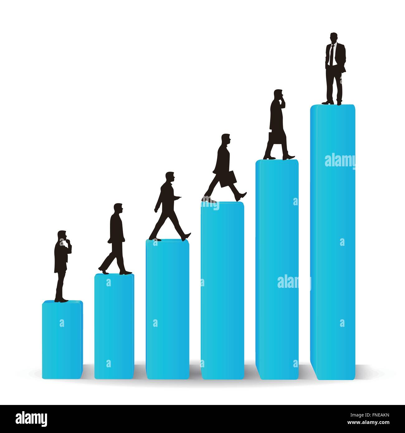 businessman career promotion graph stock photo royalty image businessman career promotion graph