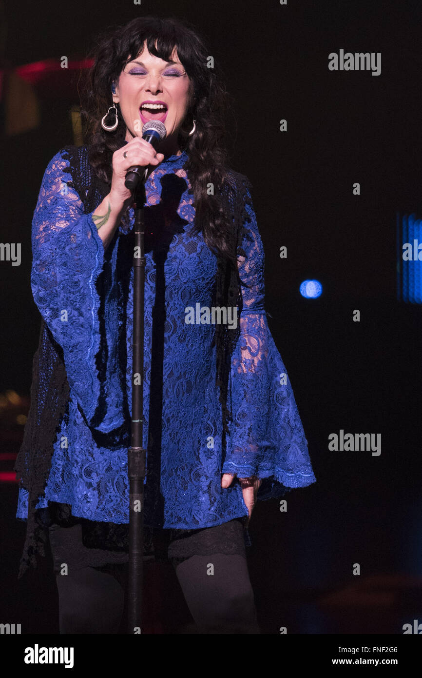 Calgary, Ab, Canada. 14th Mar, 2016. Ann Wilson Of The Rock Band Stock ...