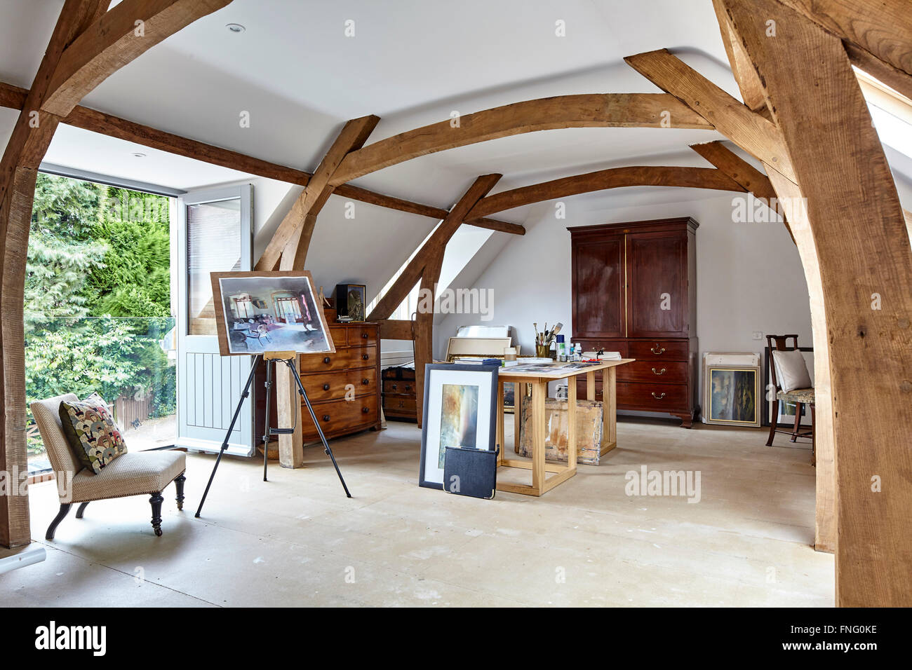 Uncategorized Exposed Wooden Beams first floor studio with exposed wood beams semi vaulted ceiling and double doors opening onto glass juliet balcony mill race ho