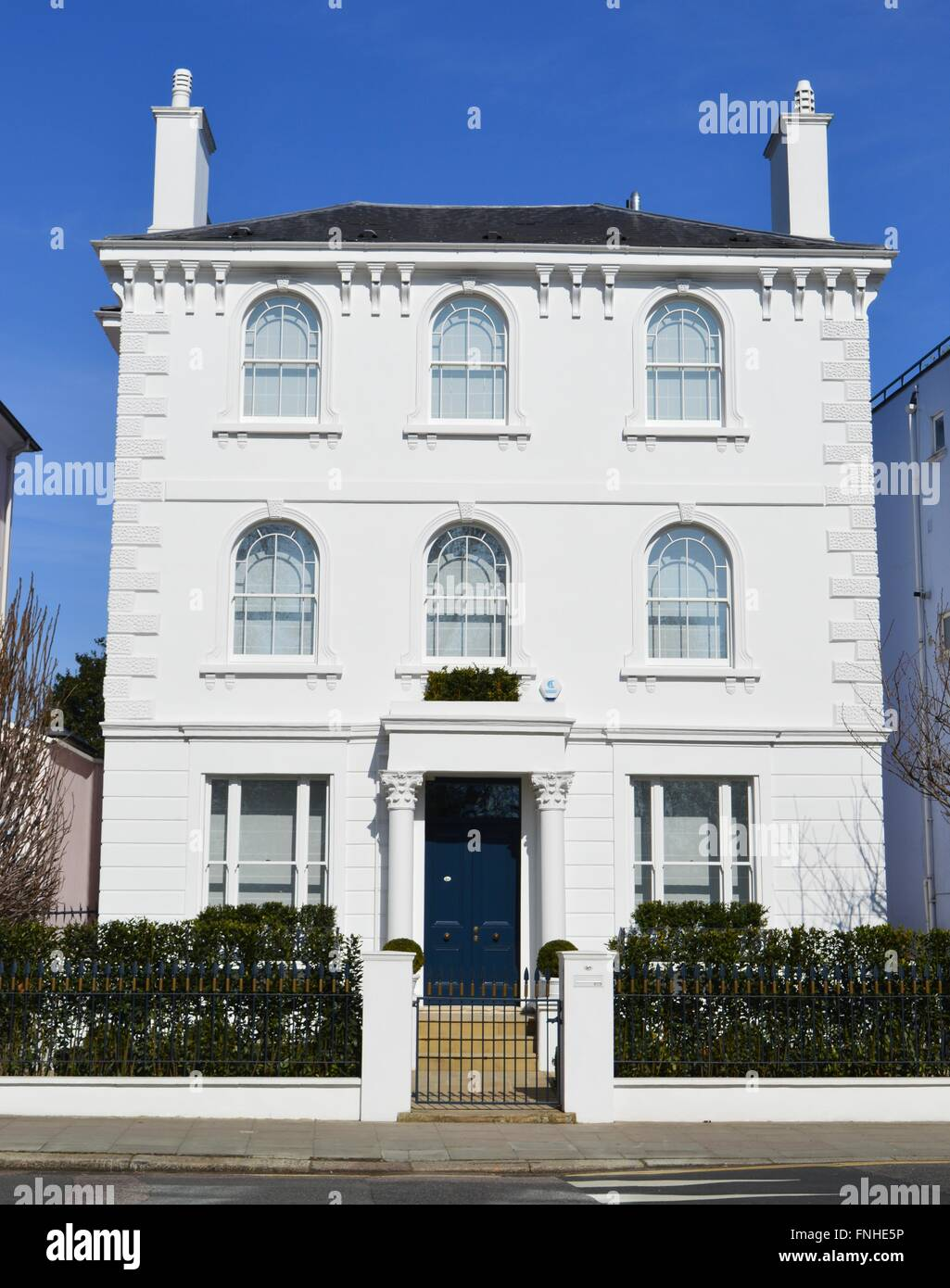 House Beautiful Large Living Rooms: Large And Beautiful White Double Fronted Victorian House
