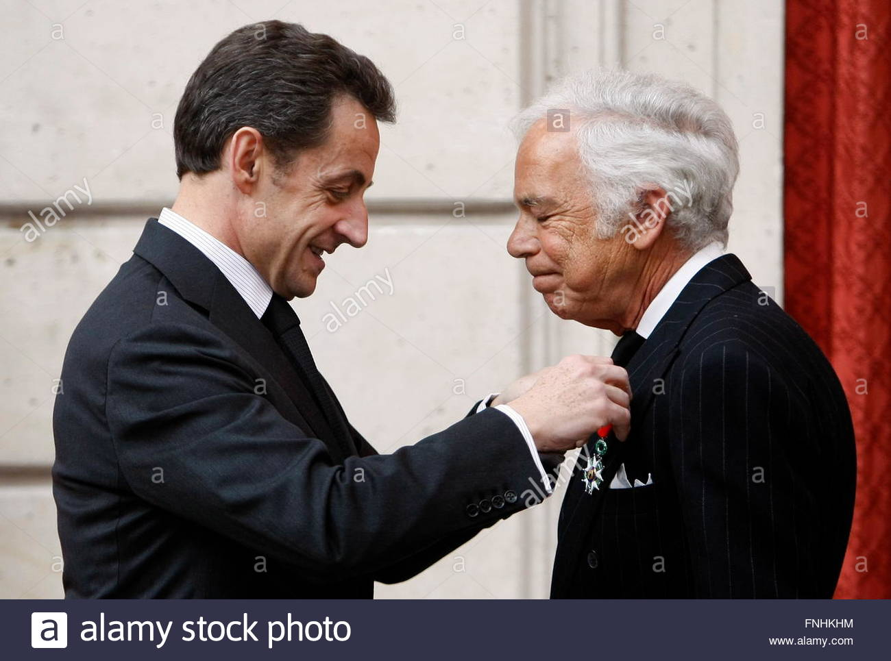 Stock Photo - epa02118689 US fashion designer Ralph Lauren (R) is awarded Chevalier of the Legion of Honor, one of France\u0026#39;s most prestigious distinctions, ...