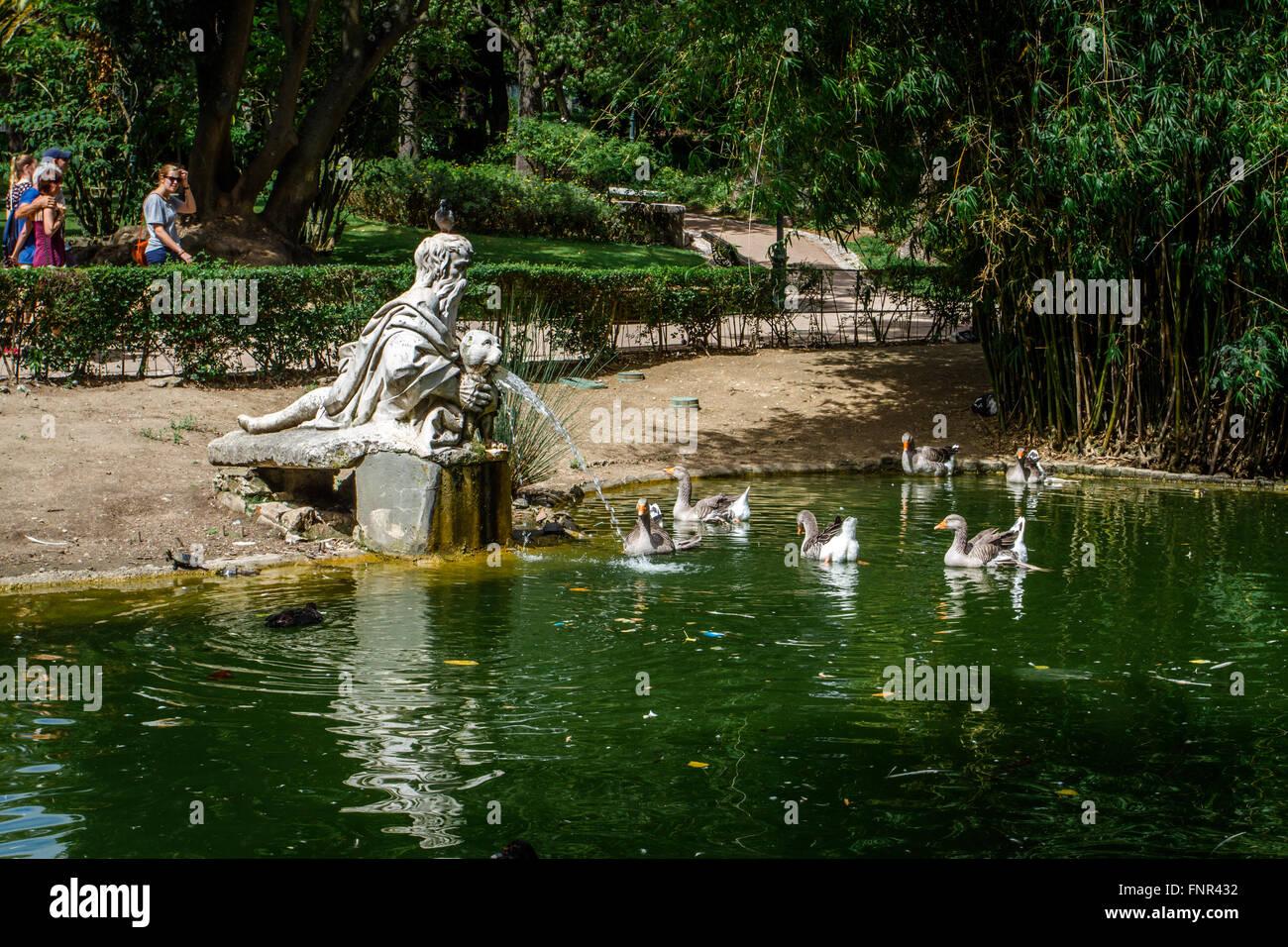 Artesanato Em Couro ~ Jardim Da Estrela (Garden of Estrela), Lisbon, Portugal Stock Photo, Royalty Free Image