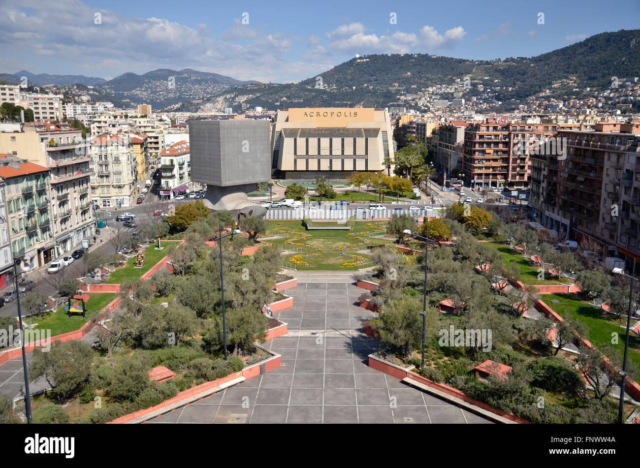 The promenade des arts and the acropolis exhibition centre for Centre des impots nice exterieur