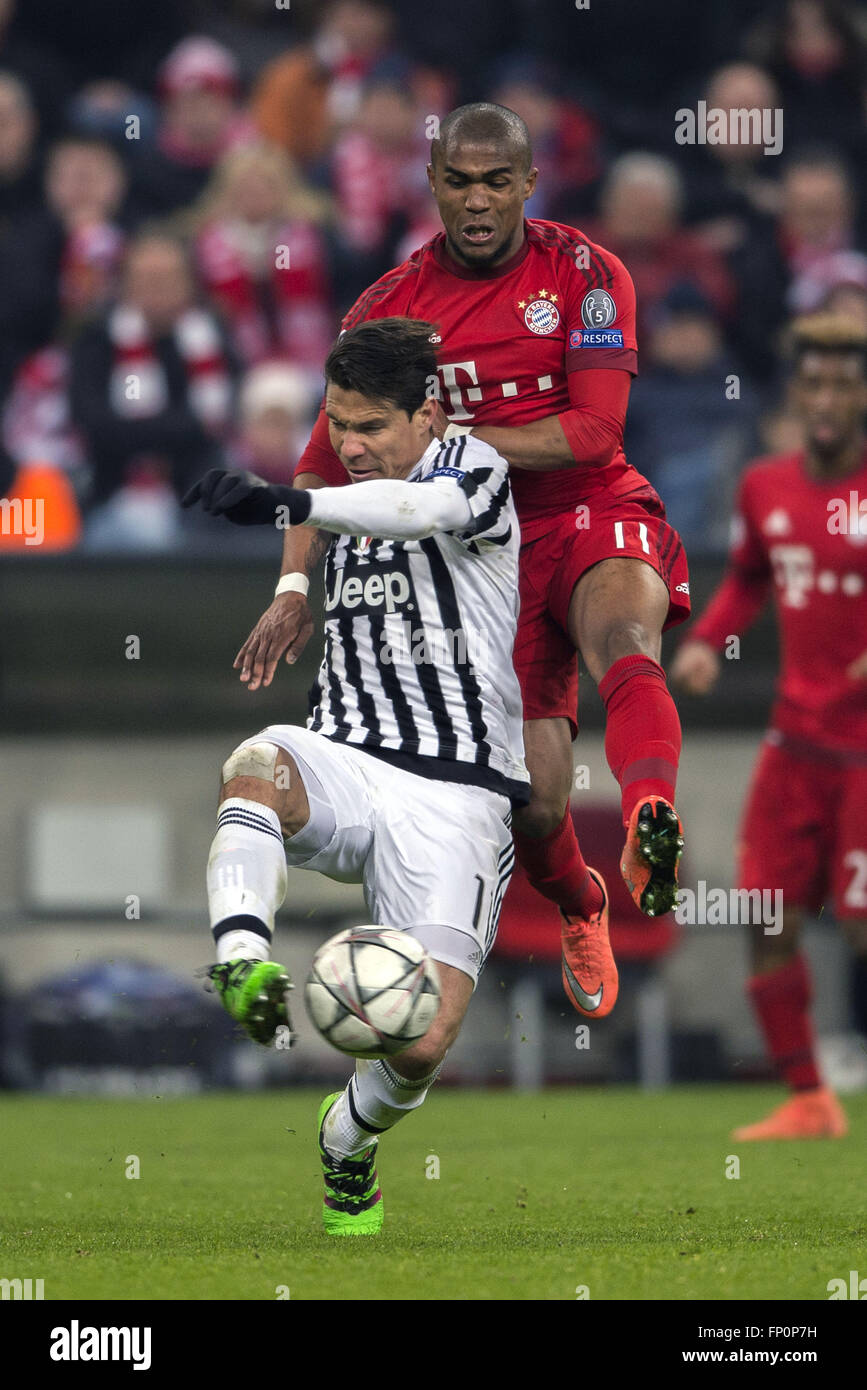 Munich Germany 16th Mar 2016 Anderson Juventus Douglas
