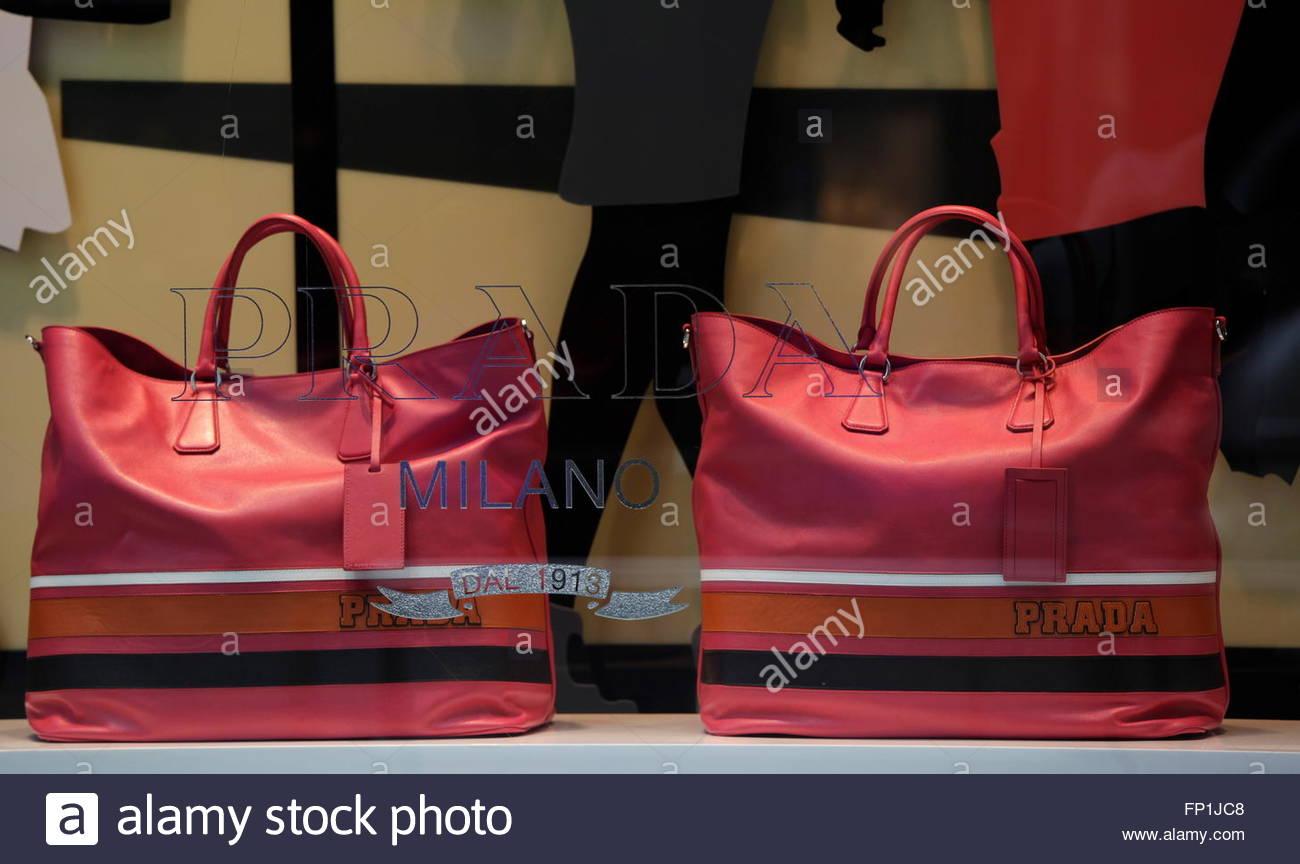 prada men's wallets - Prada Handbags Are Displayed At The Company's Shop In Hong Kong ...
