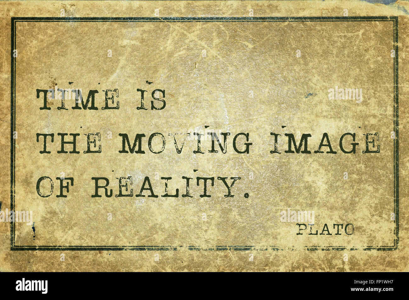 Moving Quote Time Is The Moving Image Of Reality  Ancient Greek Philosopher