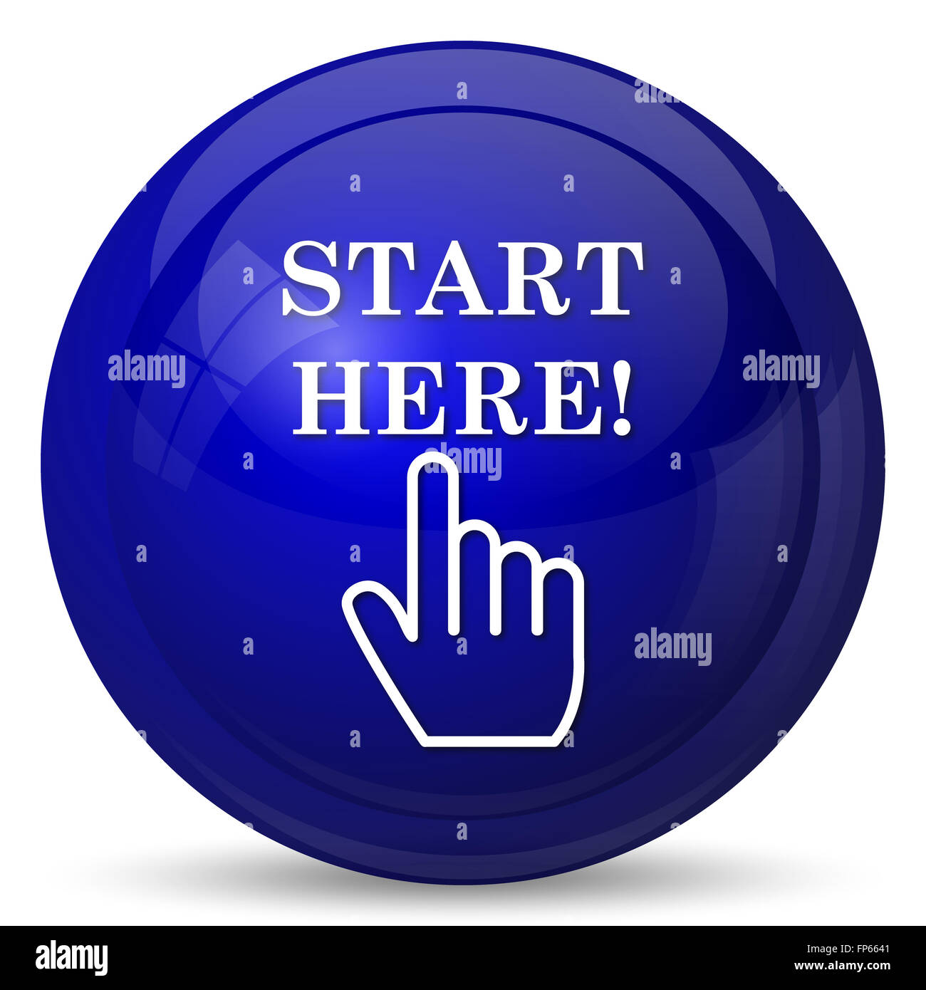 start here icon internet button on white background stock