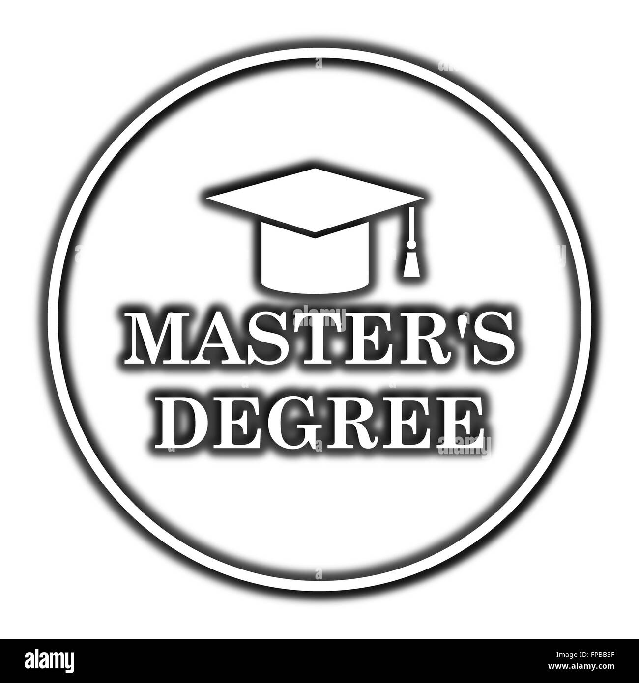 Master's degree icon. Internet button on white background ...